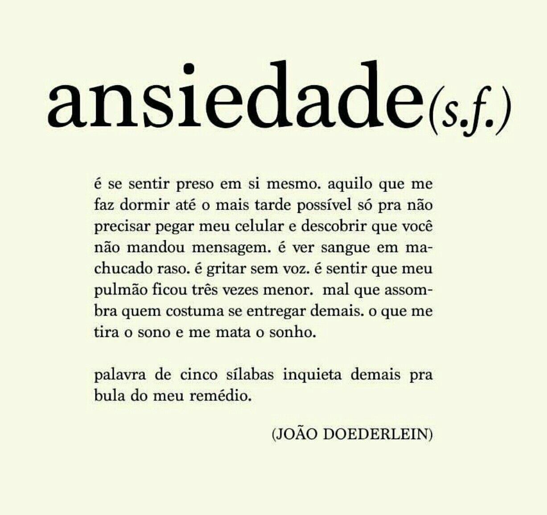 QUERIDA ANSIEDADE