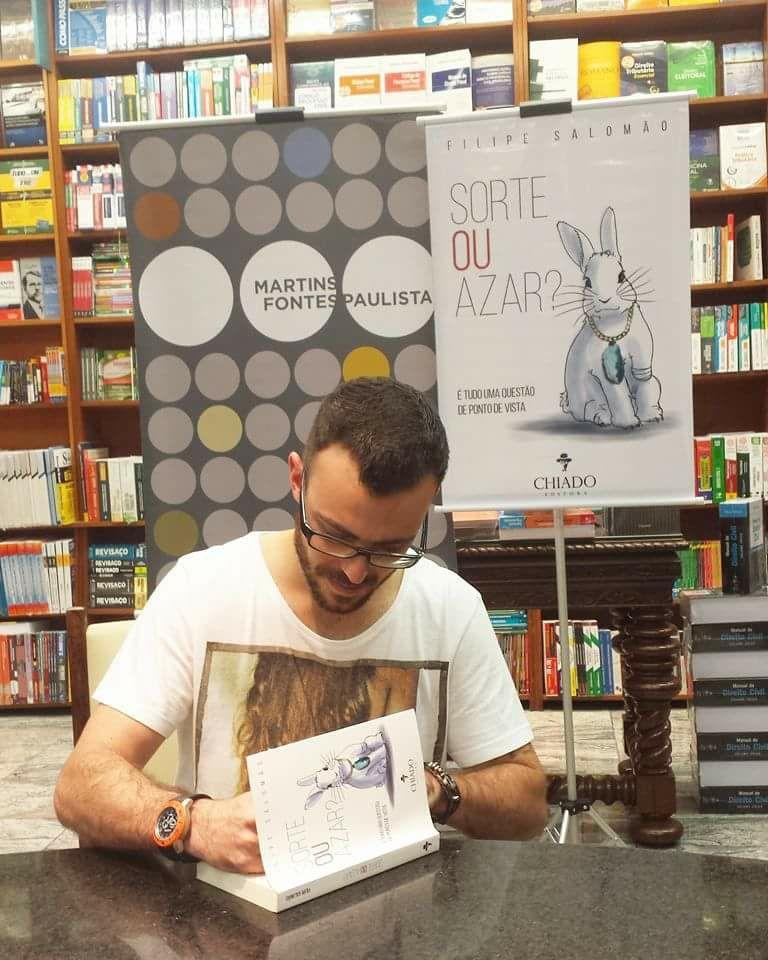 Parceria com o escritor Filipe Salomão