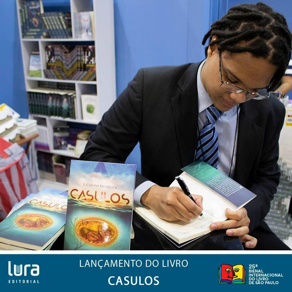 Parceria com o escritor Ricardo Mesquita